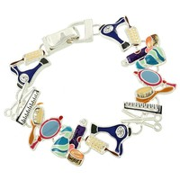 Colorful Cosmetology Scissor Bracelet