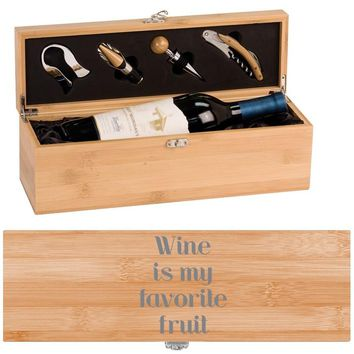 Favorite Fruit Wine Box - One Bottle Set with Tools