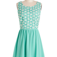 ModCloth Mid-length A-line Window Shopping Spree Dress