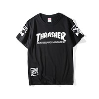 Supreme x Thrasher Joint Series Pop Skate Couple Short Sleeve T-Shirt F-A-KSFZ black