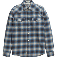 H&M - Plaid Flannel Shirt - Dark