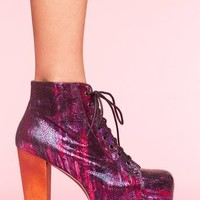 Lita Platform Boot - Metallic Splatter in  What's New at Nasty Gal