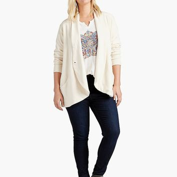 Lucky Brand Solid Cocoon Wrap Womens - Nigori
