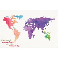 "World Map 22.375"" x 34"" Poster Print - Walmart.com"