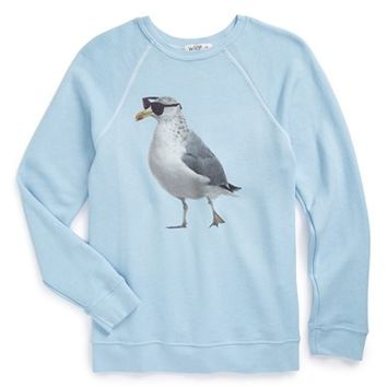 Girl's Wildfox 'Cool Gull - Kim' Raglan Sleeve Sweatshirt