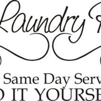 Laundry Room same day service do it yourself vinyl letters wall lettering art