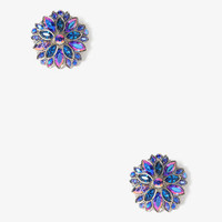 Bejeweled Flower Earrings