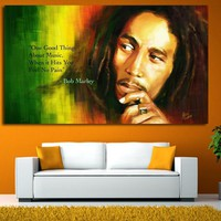 Bob Marley Painting For Wall Decor Modern Canvas Art Prints Wall Portrait Pictures For Living Room Descorative Picture No Framed