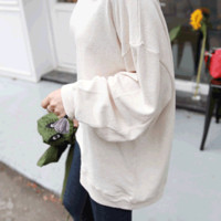 Loose Fit Drop Shoulder Sweatshirt - Miamasvin loves u! Womens Clothing. Korean Fashion.