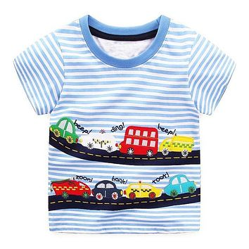Baby Boy Tops Children T shirts Fille Brand Kids Summer T-shirt for Boys Clothes Animal Cotton Clothing Boys Tee Shirt
