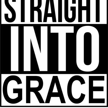 Straight Into Grace-Decal-Sticker-Jesus-grace