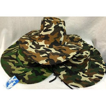 Camo Boonie / Fishing Hat - One Size Fits All