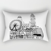 London Rectangular Pillow by Sol Fernandez