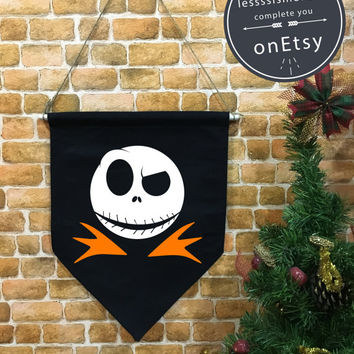 Halloween baner flag, Nightmare Before Christmas , Halloween Decor, Halloween banner, Halloween wall hanging decoration funny gifts