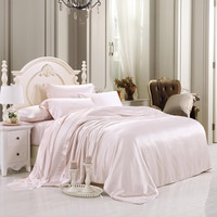 19 momme Pink Luxuer 7-Pieces Silk Bedding Collections