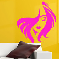 Fashion Face Decal, Hair Salon Decal, Store Front Decal, Beauty Salon Decor, Spa Salon Decor, Girl Face Decal, Trending Beauty Decor  nm081