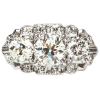 Show Stopping .82 Carat Diamond Art Deco Engagement Ring