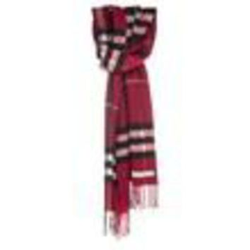 ESBON Burberry Women's Giant Check Scarf Red