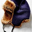 Boiled Wool Fur Lined Trapper Hat - Urban Outfitters