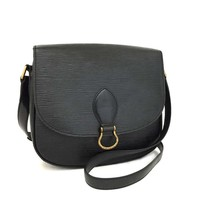 Louis Vuitton Black Epi Saint Cloud Cross Body Bag 5580