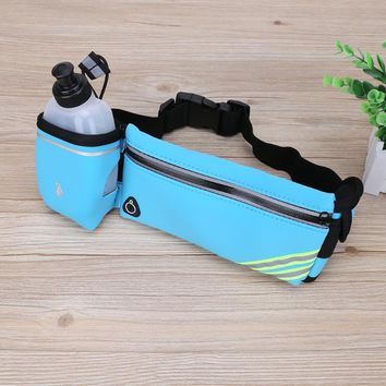 Outdoor Sport Running Bag Men Women Waterproof Running Jogging Water Bottle Waist Bag with Water Bottle Run Bag