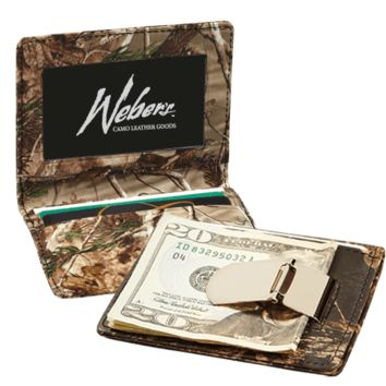 REALTREE AP™ CAMO Leather Front Pocket Wallet with Super-Strong Clip