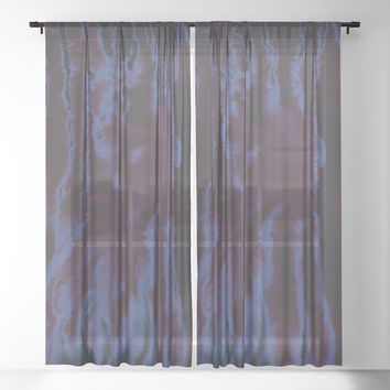 faux tie-dye Sheer Curtain by duckyb