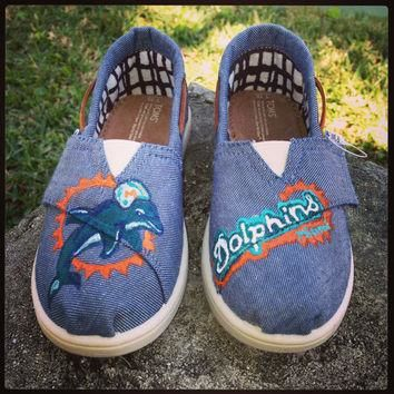 Miami Dolphins Custom TOMS, Vans, Keds or Converse