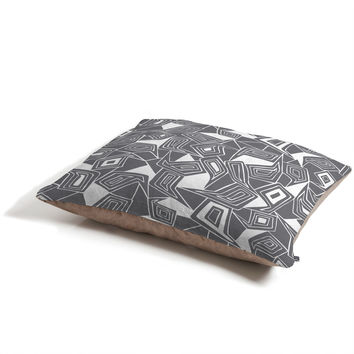 Heather Dutton Fragmented Grey Pet Bed