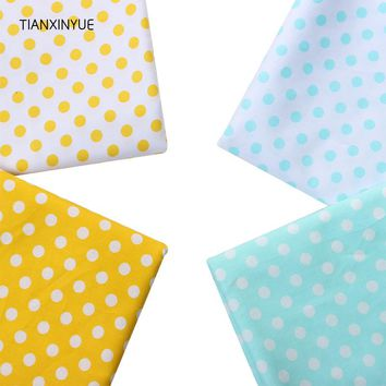 TIANXINYUE Meter fabric twill sewing cloth round dot cotton fabric design textile tecido tissue patchwork bedding quilting