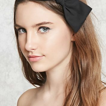 Crepe Woven Bow Headwrap