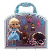 "disney parks cinderella animator mini doll set 5"" with accessories new with case"
