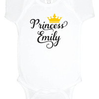 Custom Princess Baby One Piece, personalized baby shower gift, birthday bodysuit, under 20, gender reveal party, baby girl clothes, new baby