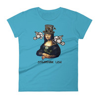 "Women's short sleeve t-shirt ""Steampunk Mona Lisa"""