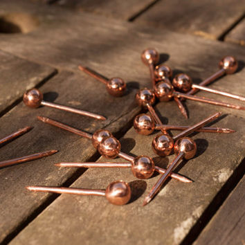 Handmade Copper Push Pins