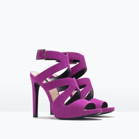 HIGH HEEL SANDAL WITH BUCKLE