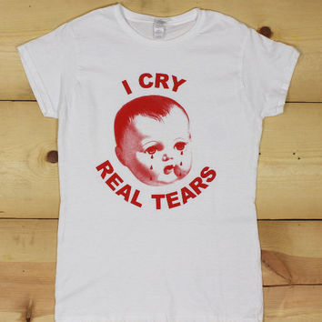 Goth Babydoll short sleeve tee CRY BABY spooky creepy gifts for goths t-shirt girlfriend gifts Emotional depression Own it baby Tears sad