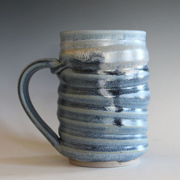 Coffee Mug Pottery, 18 oz, unique coffee mug, handmade ceramic cup, handthrown mug, stoneware mug, pottery mug, ceramics and pottery