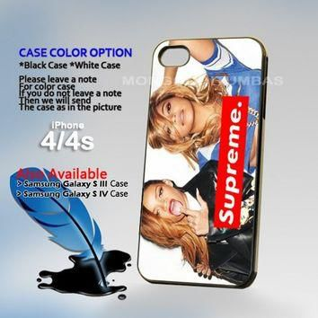 Beyonce Supreme, Print on Hard Cover iPhone 4/4S Black Case