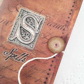 Small Spell Book,  Halloween Spell Journal, Witch and Wiccan Occult Jotter, Party Favor Spell Book