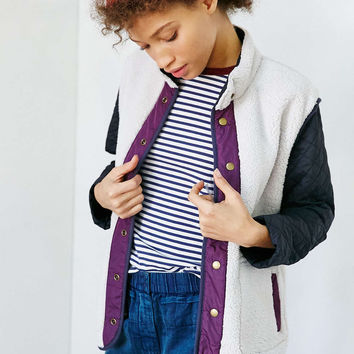 Without Walls Reversible Faux Shearling Track Jacket - Urban Outfitters