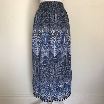 J. JILL Women's Plus Size 2X Cotton Blend Lined Bohemian Stretch Maxi Skirt