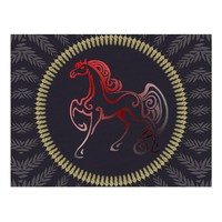 Horse Tails Postcard