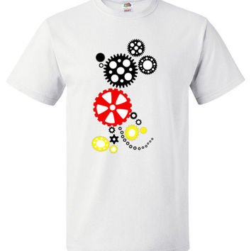 Steampunk Mickey Short Sleeves Unisex Shirt for Adult and Youth