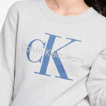 DCCKSP2 Calvin Klein Embroidery Logo Casual Long Sleeve Sport Top Sweater Pullover Sweatshirt