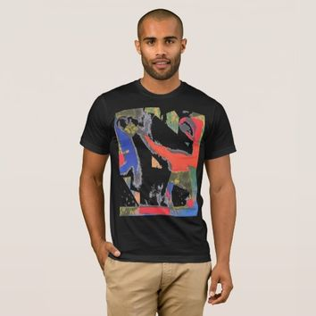 Colorful abstract art profile t-shirt