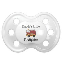 Daddy's Little Firefighter BooginHead Pacifier