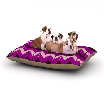 "Nick Atkinson ""Chevron Dance Purple"" Dog Bed"