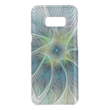 Flourish Fantasy Modern Blue Green Fractal Flower Get Uncommon Samsung Galaxy S8 Plus Case