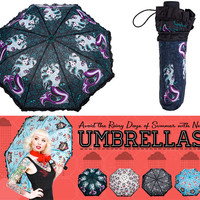 Marina Kai Mermaid Tattoo Print Umbrella - Umbrellas